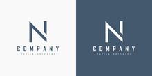 Initial Letter N Logo. Monogra...