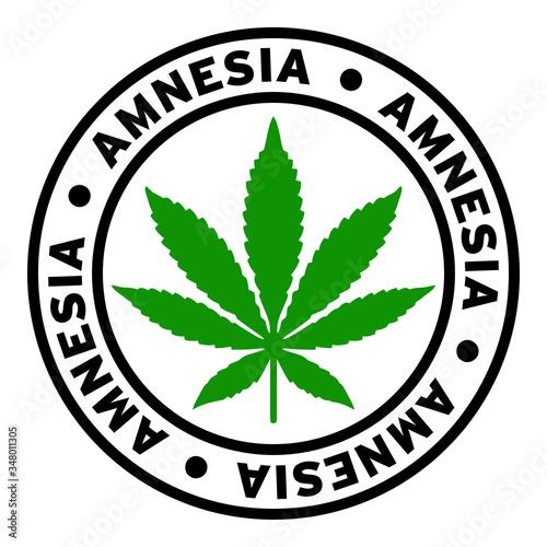 Round Amnesia Marijuana Strain Clipart Canvas Print