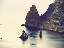 Scenic View Of Rock Formation In Sea
