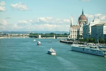 High Angle View Of Danube Rive...