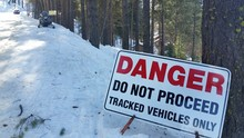 Winter Road Warning Sign