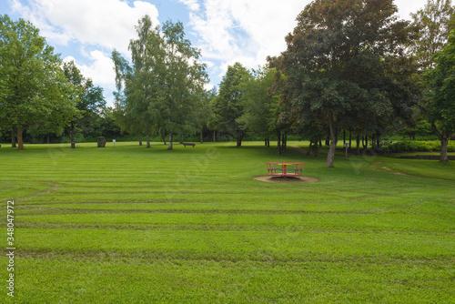 Valokuva Merry-go-round On Grassy Field At Park