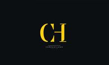 CH Letter Logo Alphabet Design...