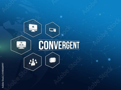 Obraz na plátne Convergent