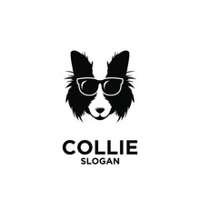 Collie Dog Head Logo Icon Design