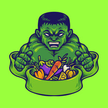 Logo Strong Hulk With Mascot V...