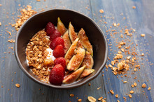 Dish With Yogurt, Strawberries...