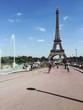 People Walking In Front Of Eiffel Tower