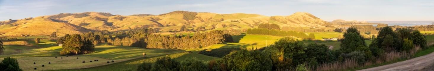 Panoramic Landscape  near Owaka in New Zealand
