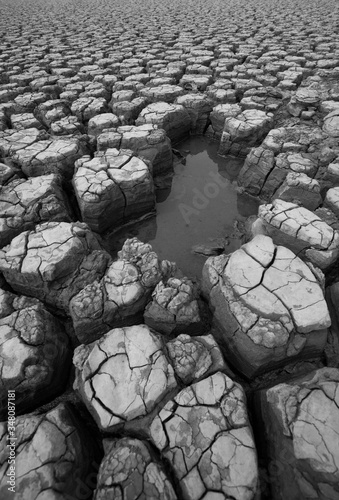Canvas Print High Angle View Of Drought Land