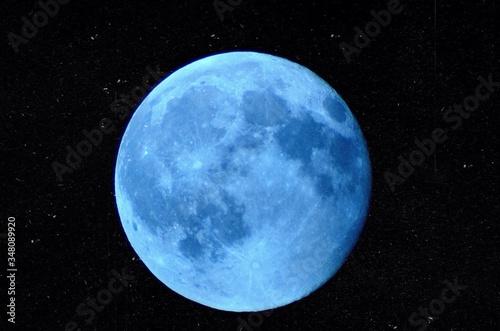Obraz na plátně Scenic View Of Full Moon In Sky At Night