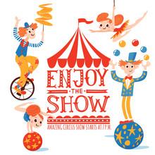 Enjoy The Show Circus Vector P...