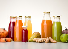 Extract Of Various Bottled Vegetables And Fruits