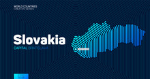 Abstract Map Of Slovakia With ...