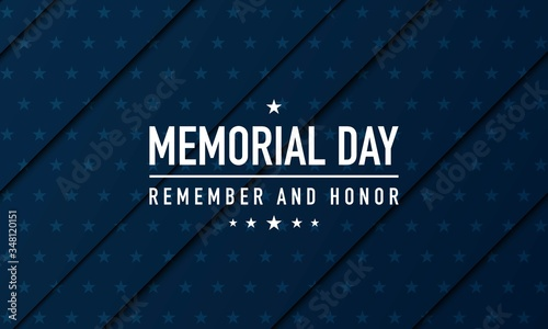 Photographie Memorial Day Background Vector Illustration. Remember and Honor.