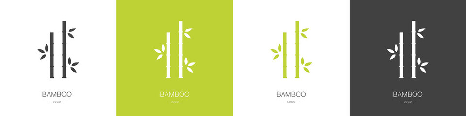 Set of bamboo logos. Collection. Modern style. Vector illustration