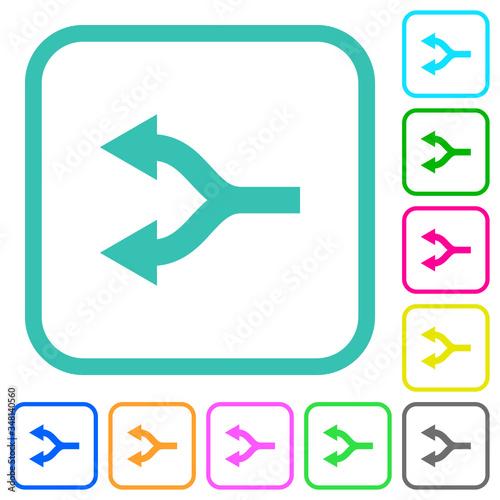 Платно Split arrows left vivid colored flat icons