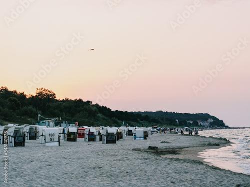 Obraz beach at sunset on island Usedom - fototapety do salonu