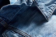 Denim Or Blue Jean Jacket Collar