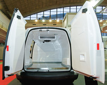 Insulated Fridge Van Open Doors