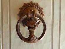 Close-up Of Metallic Door Knocker