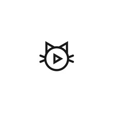 Cat Music Logo. Cat Vector