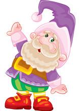 Little Dwarf In A Purple Costu...