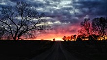 Dramatic Sky Over Road