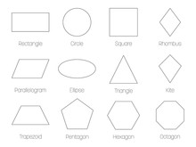 Geometric Shapes With Labels. ...