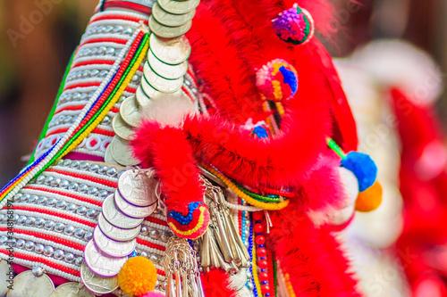 Photo Close-up Of Traditional Headdress