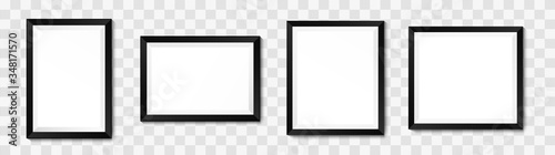 Foto Realistic picture frame mockup. Vector background