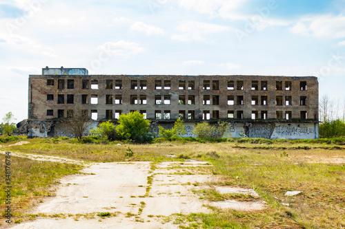 Obraz Ruiny opuszczony budynek architektura - fototapety do salonu