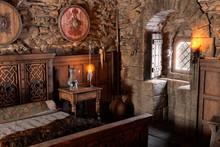 3D Rendering Medieval Bedroom