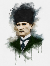 Illustration Of Mustafa Kemal ...