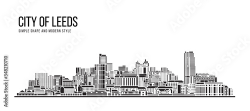 Cityscape Building Abstract Simple shape and modern style art Vector design - Ci Canvas-taulu