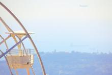 Cabin Of White Ferris Wheel Wi...