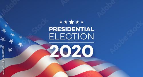 Cuadros en Lienzo American Presidential Election 2020 background design