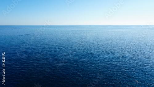Photo view of the blue ocean in croatia.