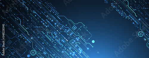 Fotografija Abstract technology circuit board. Communication concept.