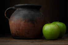 Granny Smith Apples And Jug