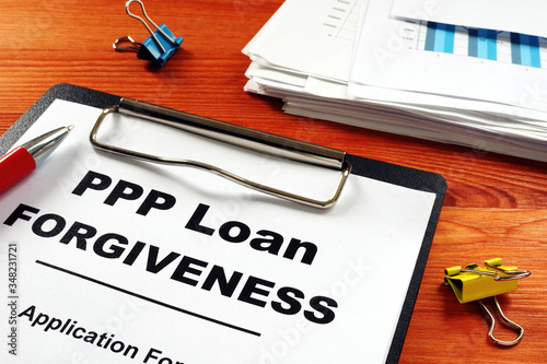Paycheck Protection Program PPP Loan forgiveness application form. - 348231721