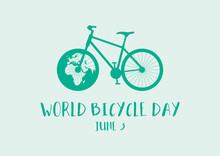 World Bicycle Day Vector. Gree...