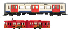 The Train Model On White Background . Isolated Train Model . First Class Train . High Speed Train