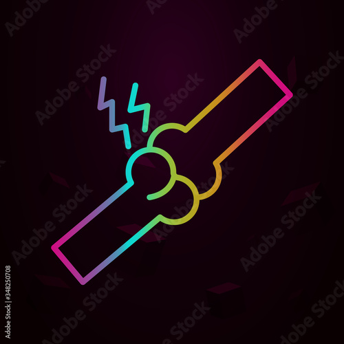 Photo arthralgia, disease, healthcare nolan icon Simple thin line, outline vector of D