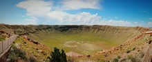 Scenic View Of Meteor Crater A...