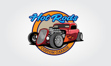 Hot Rods Custom Garage Vector ...