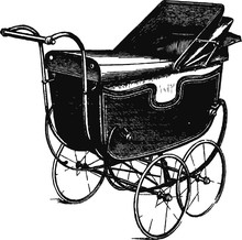 Vintage Carriage, Vector Illus...