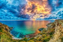 Beautiful Colorful Sunset Abov...