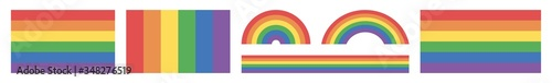 Fotografía Rainbow Flag Icon Colors | Gay Pride Movement Symbol | Tolerance Flags | Lesbian