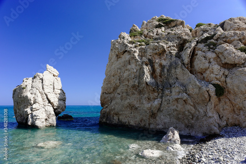 Petra tou Romiou rock in Cyprus : birth of aphrodite Canvas Print